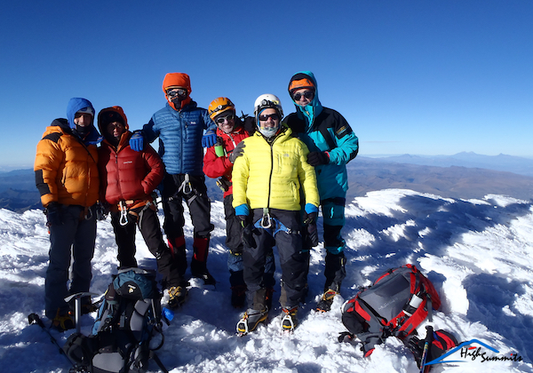 on the summit of Cayambe