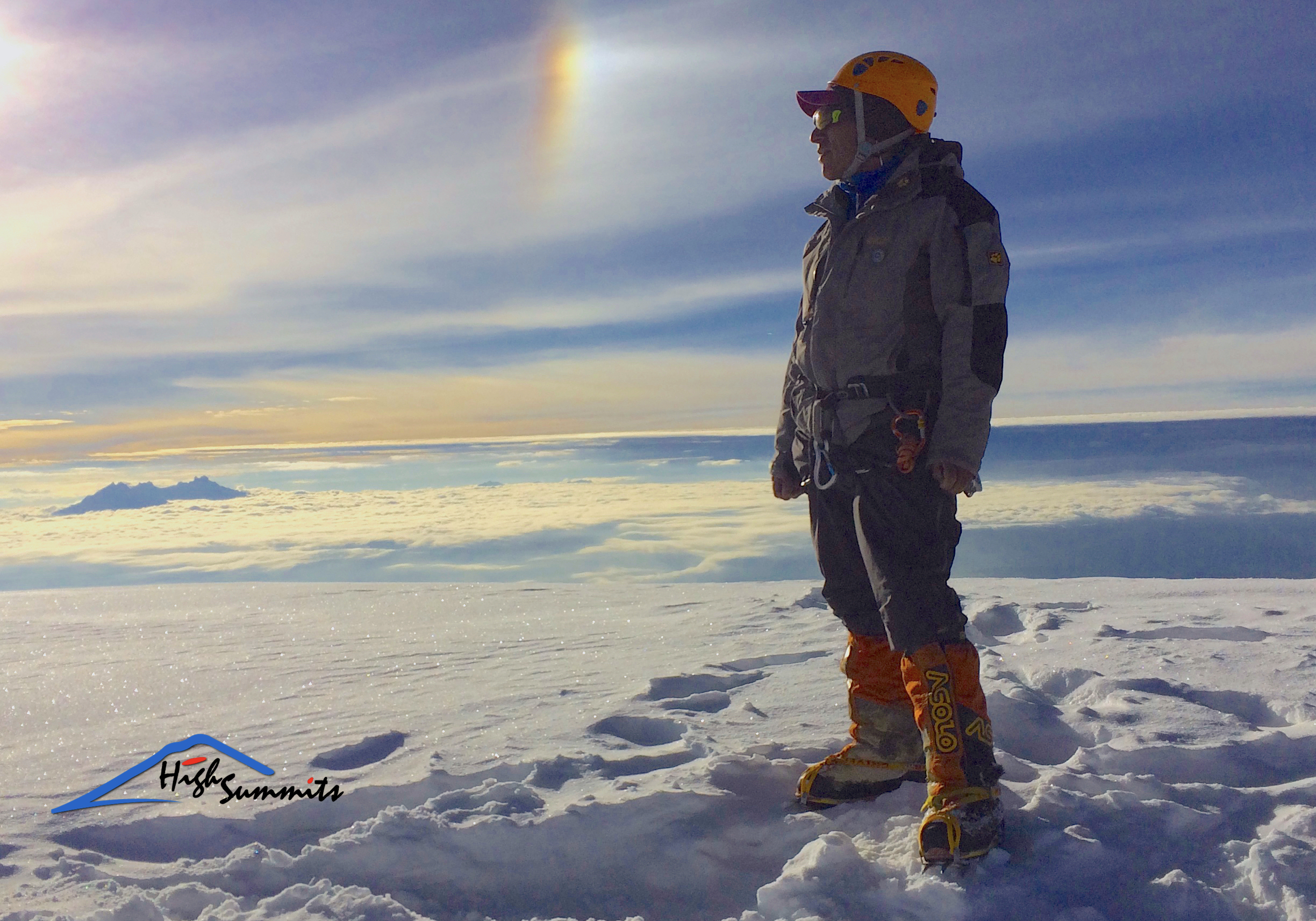 Summit Chimborazo, Abraham Chuquimarca mountain guide ASEGUIM/IFMGA